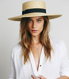 Spencer Wide Brim Boater from Free People | 10 BEST STRAW HATS TO WEAR THIS SPRING