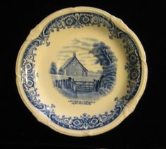 Saucer in Scenes After Constable Blue (Vine Edge, Cream) by Grindley by SharriesLOVECOMFORTS on Etsy Vintage Crockery, Sale Sale, Blue Design, Vines, Tea Cups, Decorative Plates, Cream, Christmas, How To Make