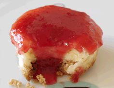 Receta de Cupcakes de tarta de queso.