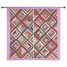 Log Cabin Folk Art Shower Curtain> Coastal, Vintage and Modern Rustic Shower Curtains> Rebecca Korpita Coastal Design Antique Quilts, Vintage Quilts, Quilted Curtains, Rustic Shower Curtains, Colorful Shower Curtain, Quilts For Sale, Quilt Bedding, Urban Chic, Small Quilts