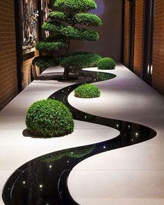Güzel iç bahçe Dekor