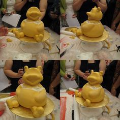 Sculpted Winnie the Pooh Cake