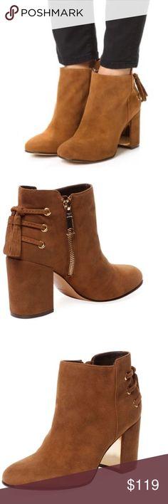 Rachel Zoe Twiggy Boots Rachel Zoe Womens Twiggy Brown Suede Heel Booties 8.5 Msrp $349 New Rachel Zoe Shoes Ankle Boots & Booties