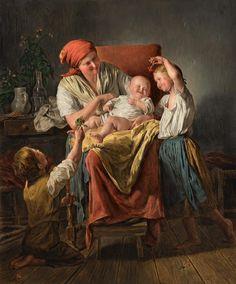 Ferdinand Georg Waldmüller, A Mother's Joy (1857)