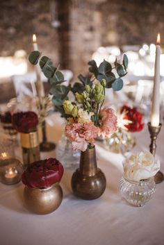 Beautiful table setting and flowers for this boho glam wedding in Stanjel, Slovenia. Planning, styling and decor all done by the talented AK Weddings.