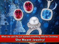 Jewelry is a Christmas gift that reflects the extra care and attention you took to give her a gift that expresses how special she is to you.