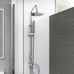 Shower Head Kit Square Bath Tap Stainless Steel Rail Mixer Hose Sliding Bracket for sale online