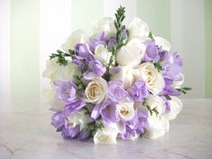 Purple And Gold Wedding, Purple Wedding Flowers, Bridal Flowers, Floral Wedding, Freesia Wedding Bouquet, Bride Bouquets, Country Wedding Decorations, Wedding Ceremony Decorations, Flower Centerpieces