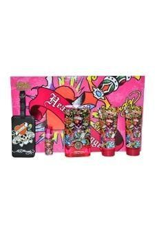 Ed Hardy Hearts & Daggers by Christian Audigier for Women - 5 pc Gift Set by Christian Audigier. $72.95. Introduced in the year 2010, by the design house of Christian Audigier.. It is classified as feminine fragrance.. 5 Pc Gift Set 3.4oz EDP Spray, 3oz Shimmering Body Lotion, 3oz Bath & Shower Gel, 7.5ml Mini EDP Spray, Luggage Tag with Original Ed Hardy Tattoo Design.. This feminine scent posesses a blend of.. Ed Hardy Hearts & Daggers by Christian Audigier ...