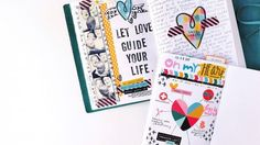 Simple Journal Pages using Printables