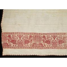 Napkin Place of origin: Italy (probably, made) Spain (possibly, made) Date: 1500s (made) Materials: Linen with inserted bands of woven linen and silk
