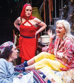 Aaron Sidwell, Jenna Russell and Sheila Hancock in Grey Gardens at Southwark Playhouse earlier this year.