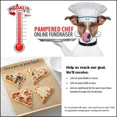 Want to pamper yourself in the kitchen and help the rescues? Now you can! Join us between now and 11pm Jan. 23 in our Pampered Chef Online Fundraiser for the rescue. Together, we can make a difference! Order Pampered Chef products through the Fundraiser Catalog Show and up to 15% of total sales will go towards our cause. Plus, an extra $3 is contributed from every show booked from the event.