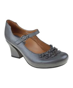 Take a look at this Dark Gray Shipley Mary Jane by Earthies on #zulily today!