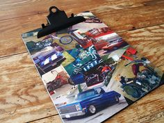 Mod Podge Photo Collage Clipboard for Him by @Amanda Formaro Crafts by Amanda