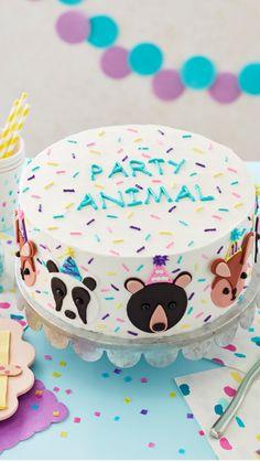 Cupcakes, Cupcake Cakes, Bithday Cake, Fondant Animals, Wilton Cake Decorating, Animal Cakes, Pastry Art, Cake Board, Birthday Treats