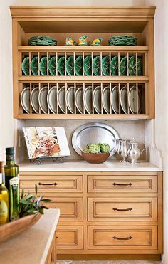 10 Gorgeous Takes On The Open Shelving Trend. Plate StoragePlate RacksDish  RacksCabinet ...