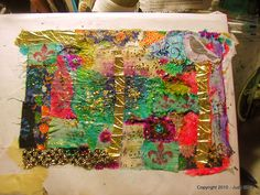 Dryer Sheet Collage Art Cloth – Tutorial – The Key to My heArt Fabric Paper, Paper Art, Fabric Painting, Tissue Paper, Textiles, Art Cart, Collage Techniques, Fabric Journals, Textile Fiber Art