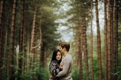 Cozy Forest Engagement in Clumber Park   Photo by Mike & Tom