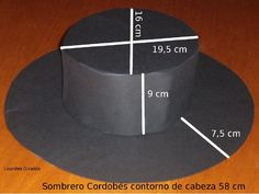 Resultado de imagen de sombrero cordobes casero Hat Patterns To Sew, Sewing Patterns, Hat Crafts, Diy And Crafts, Tea Light Snowman, Recycled Dress, Crazy Hats, Diy Hat, Fancy Hats