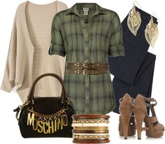 Outfits de Moda ...Me Tomo Cinco Minutos: Camisas a Cuadros