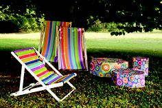 Missoni Home Beach Chairs - portable and in fun colors!