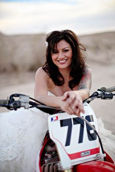 Dirt Bike, Tattoos and a Photo Shoot at Sunset