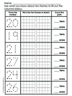 freebie tens ones place value worksheets first grade math pinterest more worksheets and. Black Bedroom Furniture Sets. Home Design Ideas