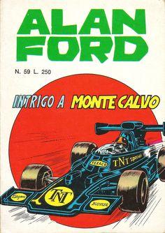 """Alan Ford n.59 """"Intrigo a Monte-Calvo"""", di Magnus [Roberto Raviola], chine di Paolo Chiarini - maggio 1974"""