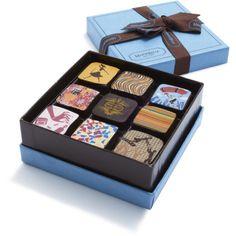 MarieBelle 9-Piece Chocolate Ganache Box  $38.00