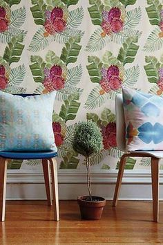 wallpaper design ideas floral watercolor wallpaper