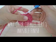 Finitions et changements de couleurs invisibles quand on crochète en spirale [Tuto vidéo] | Ahookamigurumi