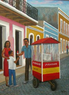 Piraguero by Luis Cajiga, Puerto Rico Puerto Rican Coffee, Puerto Rico History, Puerto Rican Culture, Enchanted Island, Famous Places, Puerto Ricans, My Heritage, Beautiful Islands, My Arts