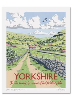 Swaledale, North Yorkshire by Kelly Hall. Massive range of art prints, posters & canvases. Quality UK framing & Money Back Guarantee! Yorkshire England, Yorkshire Dales, North Yorkshire, Cornwall England, Posters Uk, Railway Posters, British Travel, Sign Printing, Vintage Travel Posters