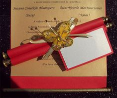 Ref Scroll red ( We can do any colour) www.weddingcards.co.za