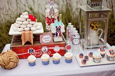 "Nautical ""Ahoy, It's a Boy"" #babyshower - adorable theme and party decor!"