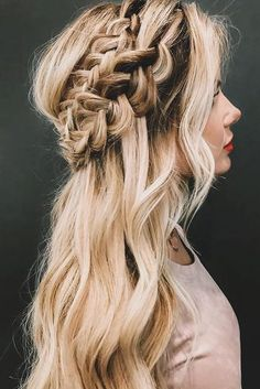 boho wedding hairstyles bohemian braided crown amberfillerup