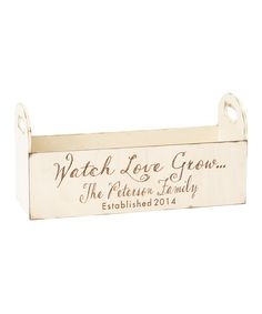 Look at this Personalized Planter Box on #zulily today!