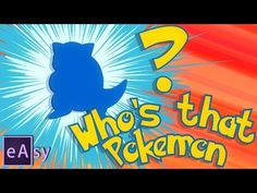 Who's that pokemon? / After Effects tutorial - YouTube