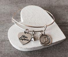Cheer Captain, Silver Charm Bracelet, Cheerleader Bracelet, Cheer Bracelet, Cheerleader Jewelry, Cheer Captain Bracelet, Captain, Gifts by SAjolie, $21.95 USD