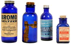 Cobalt Pharmacy Bottles