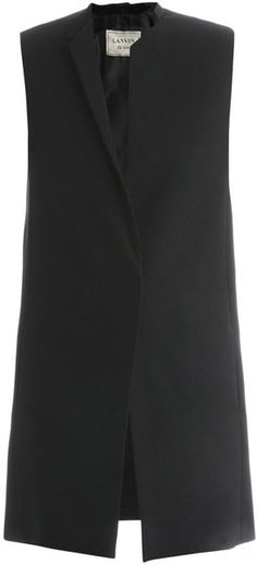LANVIN Tailored Sleeveless Jacket - Lyst