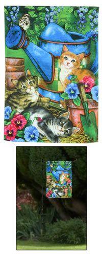 Garden Kitties Garden Flag at The Animal Rescue Site