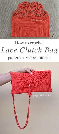 Crochet Bag Clouch Bag Crochet Free Pattern Video Tutorial - I have made dozens of handbag crochet, but this is so elegant that can fit with every season outfit. Make this amazing accessory for you and for your friends. Crochet Clutch Pattern, Clutch Bag Pattern, Crochet Clutch Bags, Crochet Wallet, Bag Crochet, Crochet Shell Stitch, Crochet Handbags, Crochet Purses, Free Crochet