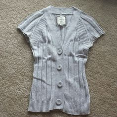 """Heritage Gray Button-Up Cardigan Approximately 24"""" length  Runs small but is stretchy. Heritage Sweaters Cardigans"""