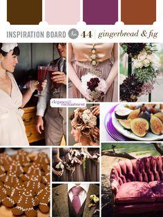 Inspiration Board #44: Gingerbread & Fig | Elegance & Enchantment