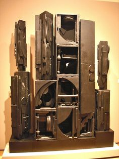 Louise Nevelson, wood sculpture