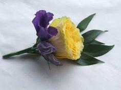 RJ's Florist: Purple and Yellow wedding flowers.