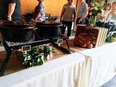 Unique Wedding Catering Ideas for the Big Day – MyPerfectWedding Catering Buffet, Catering Display, Catering Food, Wedding Catering, City Bbq Catering, Catering Ideas, Wedding Venues, Rustic Food Display, Rustic Buffet