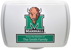 """Personalized 9x13"""" Marshall Logo, Traditional Cake Pan & Lid"""